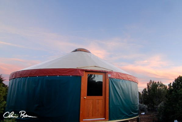 yurt2 597x400 A Week in the Creek aka the yurt dont hurtclimbing