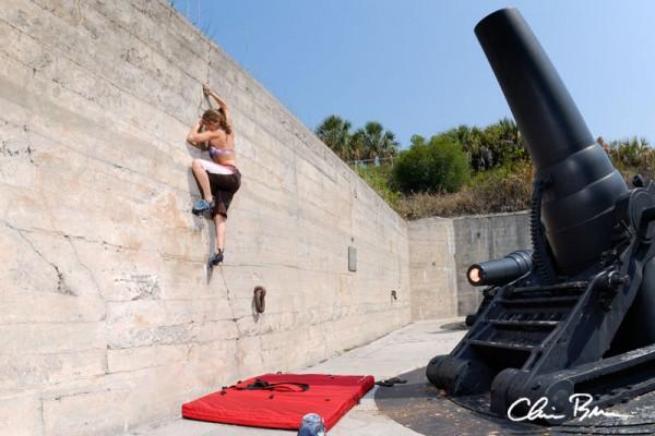 Bouldering at Fort Desoto.