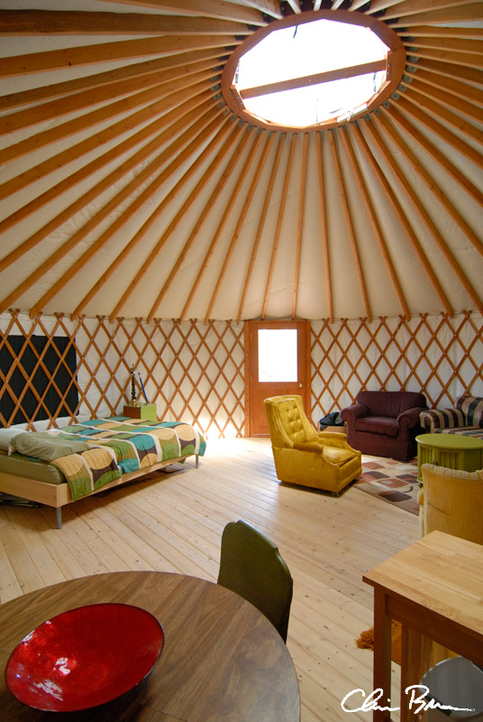 Ample room inside the yurt.