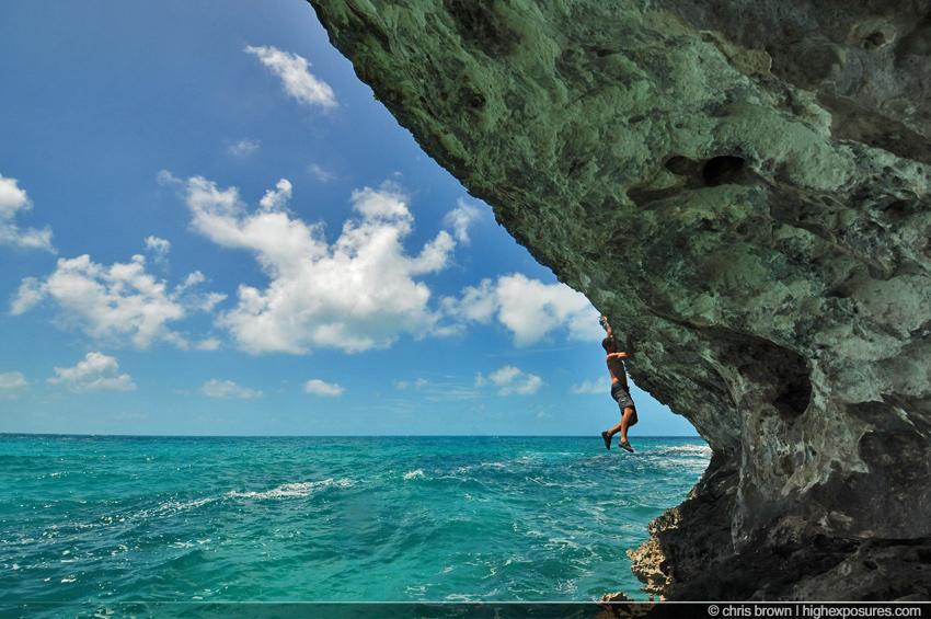 annie1 Rock Climbing in the Bahamasclimbing